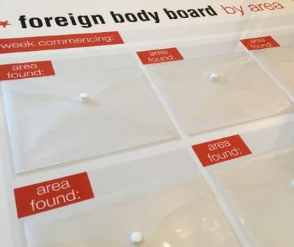 Foreign Body Display board