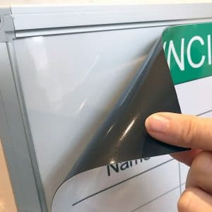 Easy to attach and remove from whiteboard surfaces