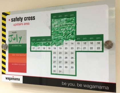 Safety Cross Dry Wipe Board