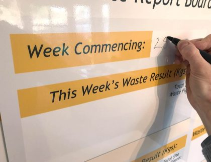 Waste Report Dry Wipe Board