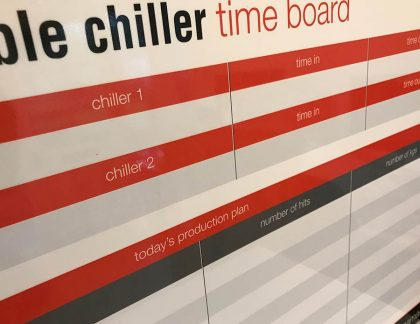 Chiller Time Log Dry Wipe Board