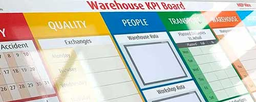 KPI board printed whiteboards