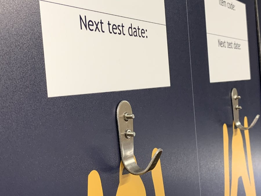 Next test date tool shadow board