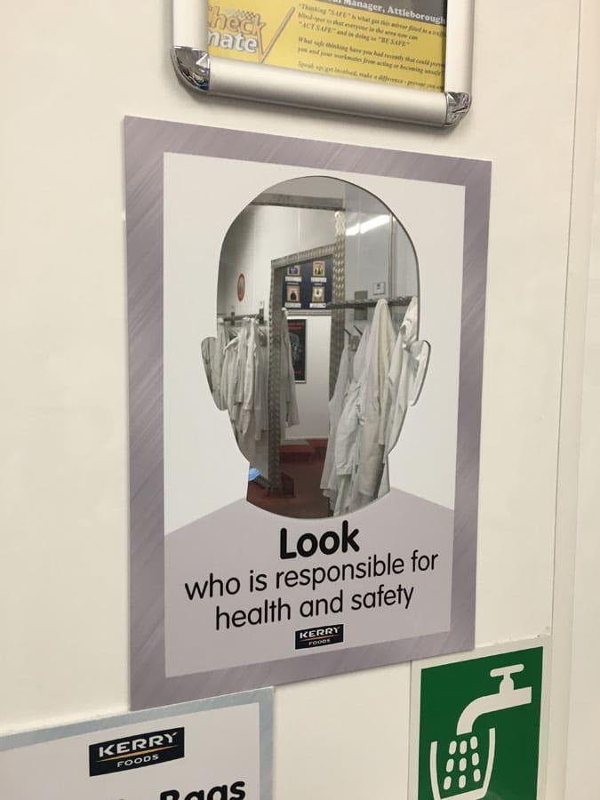 visual management board accessories mirror