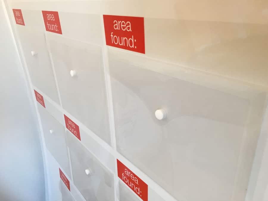 visual management board accessories folder