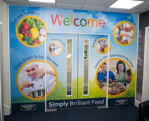 Welcome Wall visuals Burton