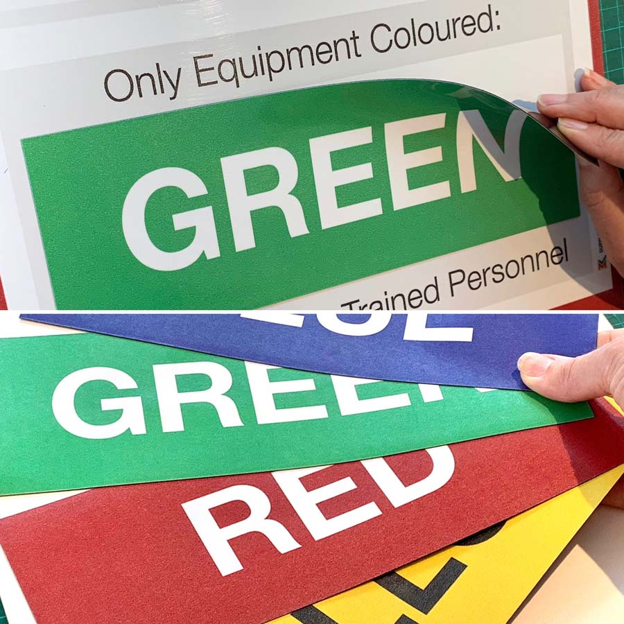 magnetic labels for printed whiteboards