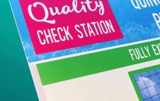 quality check station visual management board