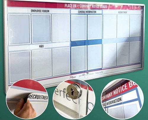 Custom notice board
