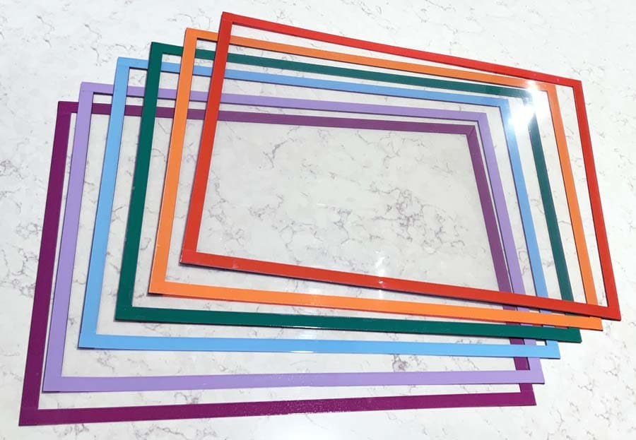 coloured magnetic document holders