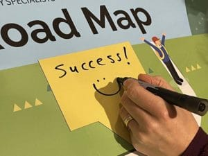 custom whiteboard goals road map with magnetic label