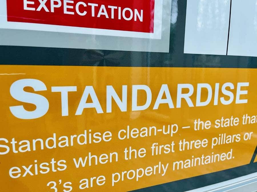 Fourth 5S - Standardise - 5S board