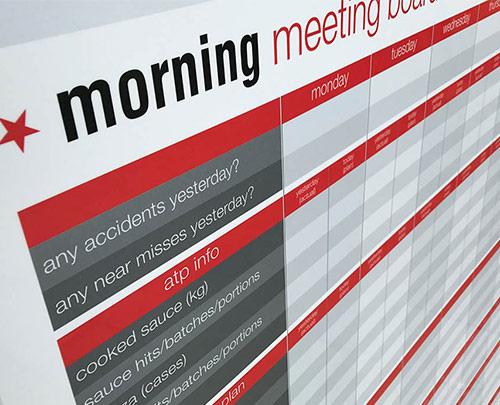 Morning meeting board dry wipe