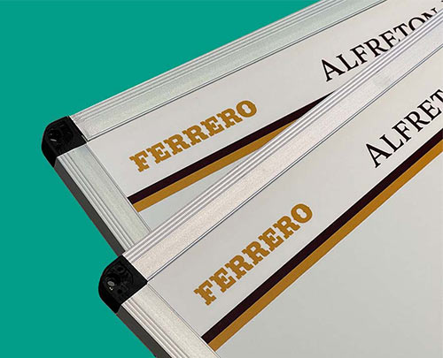 Printed whiteboard example Ferrero
