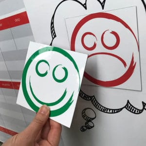 Magnetic faces lables