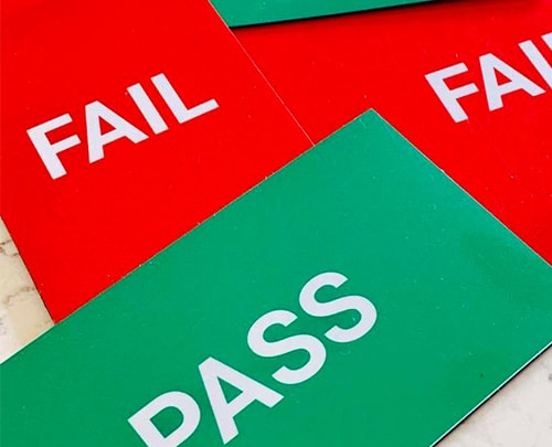 pass fail magnetic labels for visual management boards