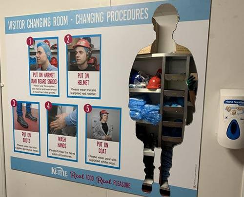 Changing procedures full length mirror