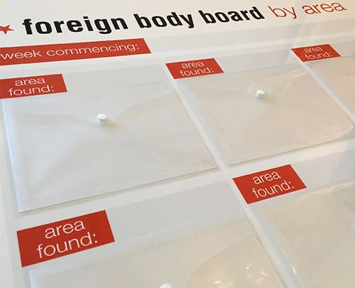 Foreign body board