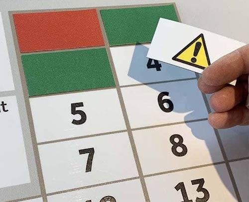 Magnetic label hazard