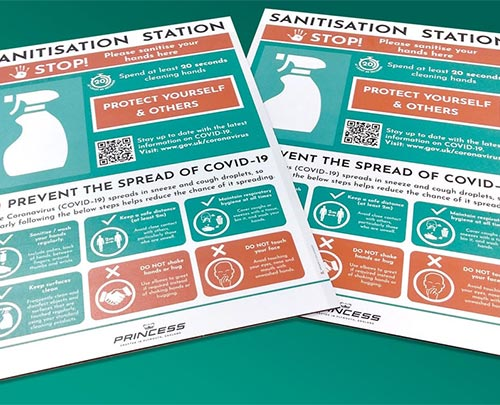 Hand sanitisation boards