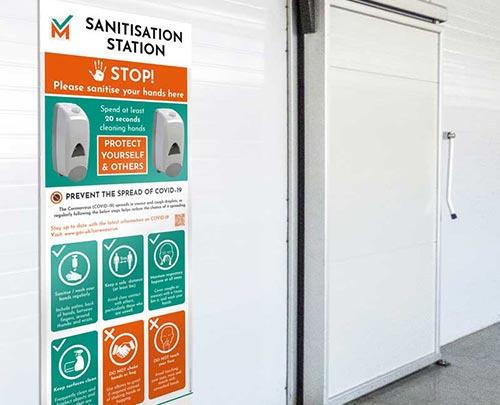 Hand sanitisation station